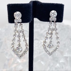 Prom Pageant Bridal Jewelry - Classic Formal Rhinestone Occasion Earrings